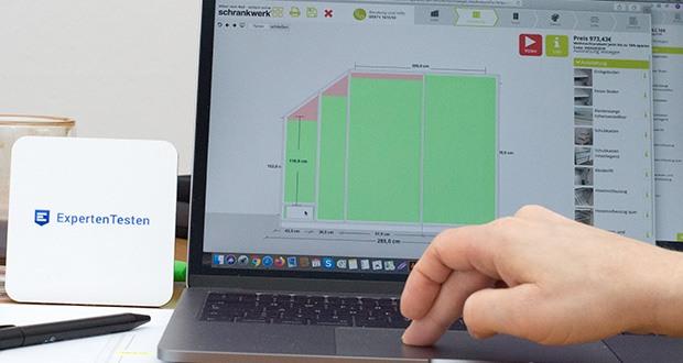 schrankwerk.de online Kleiderschrank Konfigurator im Test - Maße millimetergenau eingeben