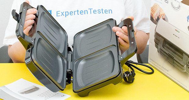 Emerio XXL Sandwichtoaster im Test - Muschelformat: damit der Käse innen bleibt und nicht aussen verschmiert