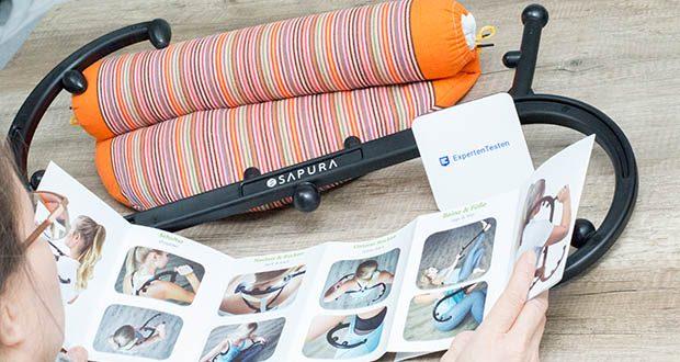 SAPURA Triggerpunkt Massagegerät im Test - durch den ergonomischen Aufbau des Triggergeräts erreichen Sie problemlos alle Muskelknoten und bekämpfen somit Rückenschmerzen und Verspannungen