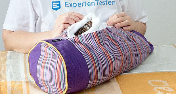 SAPURA Yogakissen im Test - mitverantwortlich für den hohen Sitzkomfort ist die Füllung aus 100% Buchweizen