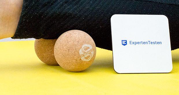 SAPURA Fasziendoppelball aus Naturkork im Test - ergonomische Form für die optimale Selbstmassage
