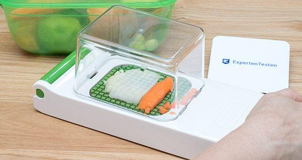 Alligator Chopper Set 2-in-1 im Test - mit nur einem Ruck schneiden Sie perfekte Streifen oder Würfel von Zwiebeln, Gemüse, Obst, Oliven, Eiern & Co in unterschiedlichen Größen