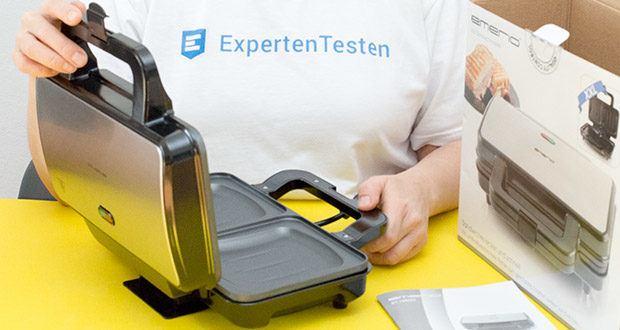 Emerio XXL Sandwichtoaster im Test - antihaftbeschichtete Druckguss-Platten zur schnellen und einfachen Reinigung