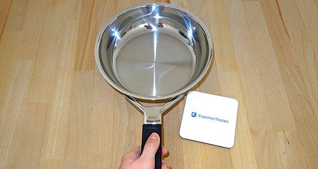 RÖSLE Bratpfanne Silence im Test - ergonomischer Griff mit Silikon für eine optimale Handhabung (temperaturbeständig bis 260 °C)