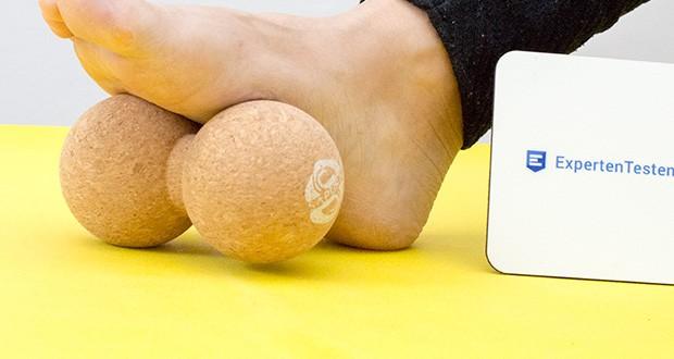 SAPURA Fasziendoppelball aus Naturkork im Test - eignet sich aber nicht nur für den Rücken, sondern ist ein echtes Multitalent