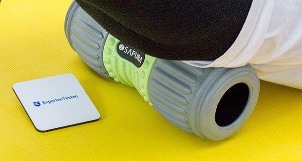SAPURA Faszienrolle HEAL Wirbelsäule im Test - eignet sie sich ideal für das Faszientraining des Schulter- und Rückenbereichs