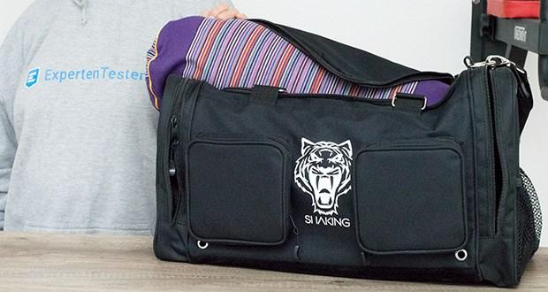 Sporttasche King Classic im Test - sehr geräumiges Hauptfach mit stabilisiertem Boden = kein Durchhängen