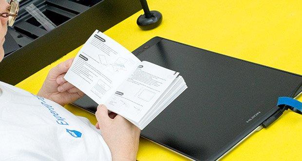 HUION Grafiktablett Kamvas Pro 16 im Test - bitte installieren Sie den Treiber, BEVOR Sie das Produkt anschließen. Die HUION-Treiber werden regelmäßig aktualisiert