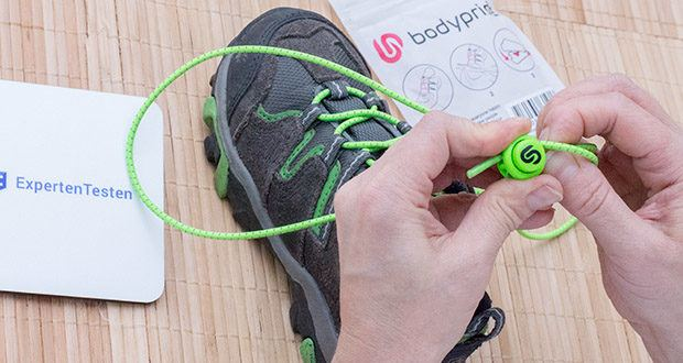 BODYPRIDE Premium Schnürsenkel mit Schnellverschluss im Test - keine Druckstellen, da sich Schnellschnürsystem perfekt an deinen Fuß anpasst