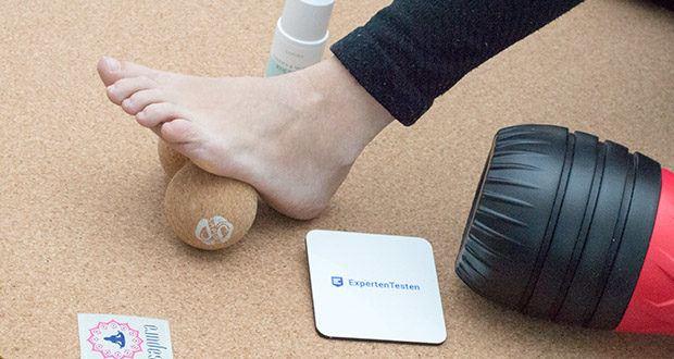 SAPURA Fasziendoppelball aus Naturkork im Test - Aktivierung der lokalen Durchblutung für bessere Nährstoff- und Sauerstoffversorgung