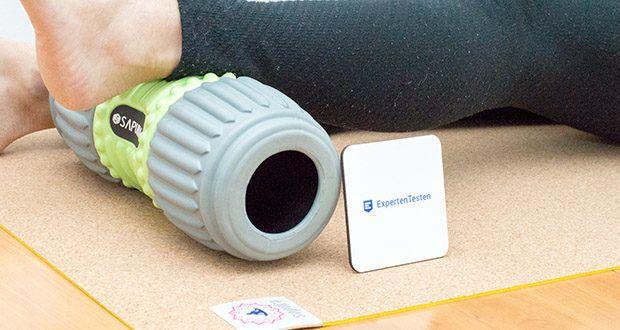 SAPURA Faszienrolle HEAL Wirbelsäule im Test - ist sehr belastungsstabil und ermöglicht durch ihre einzigartige Struktur eine tiefgehende Gewebemassage