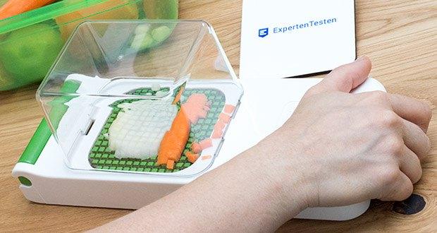 Alligator Chopper Set 3-in-1 im Test - in Sekundenschnelle schneiden Sie Zwiebeln und andere Gemüse in feinste, gleichmäßige Würfel
