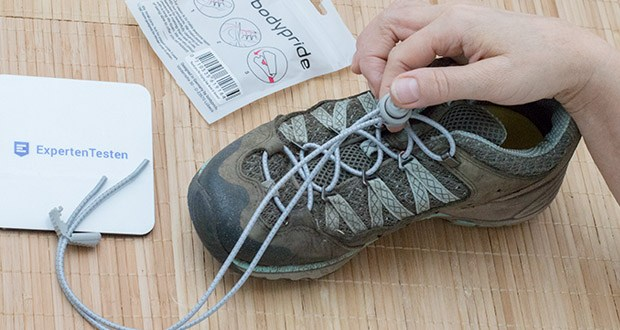 BODYPRIDE Premium Schnürsenkel mit Schnellverschluss im Test - mit Reflektor - Teilchen ausgestattet, sodass du bei dunklen Lichtverhältnissen gut gesehen wirst, was beim Joggen oder für Schulkinder ein großer Pluspunkt ist