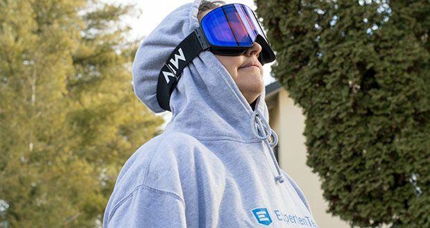 MessyWeekend Unit Skibrille mit photochromer XEp Linse im Test - Antibeschlagbeschichtung und Belüftungssystem für optimale Verhinderung von Beschlag