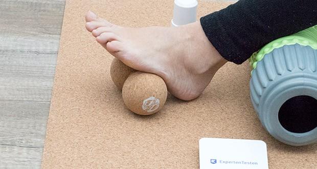 SAPURA Fasziendoppelball aus Naturkork im Test - auch wenn du Allergiker bist, eignet sich der Duo-Ball dank den anti-allergischen Eigenschaften des Korks ideal für das Faszientraining