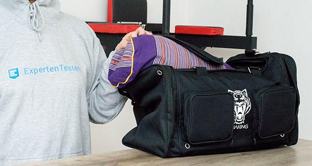 Sporttasche King Classic im Test - extrem stabile Nähte und Reisverschlüsse