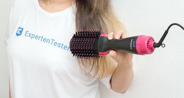 Aokebeey 4-in-1 Warmluftbürste im Test - die Materialien leiten Wärme frei, aber nicht Haare verbrennen