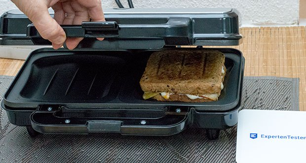 Emerio XXL Sandwichtoaster im Test - schnell aufgeheizt und einsatzbereit, kompakte Maße zum Verstauen auch bei wenig Platz