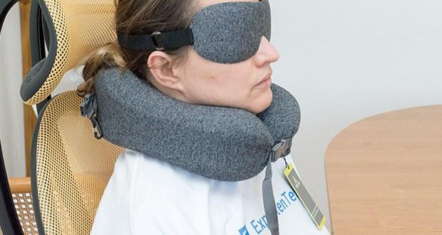 HIKENTURE Reise Nackenkissen im Test - somit wird Ihre Halswirbel gestützt und die Belastung Ihrer Wirbel wird effektiv verringert