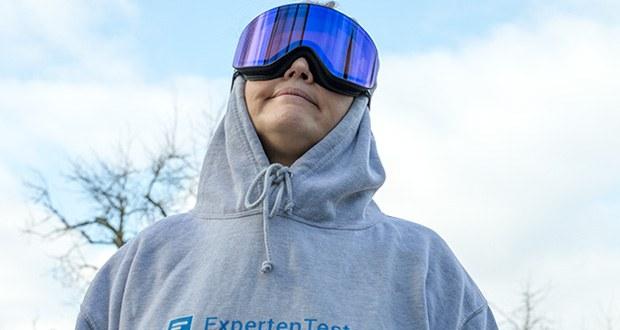 MessyWeekend Unit Skibrille mit photochromer XEp Linse im Test - voller UV400 (UVA + UVB) Schutz sowie Blockierung des schädlichen blauen Lichts