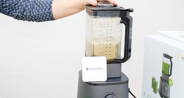 Springlane Hochleistungsmixer Hanno im Test - dank innovativem 6-Klingen-System aus rostfreiem Edelstahl kriegst du Nüsse, Blattgemüse oder gefrorene Früchte alle klein