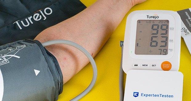 Turejo Oberarm Blutdruckmessgerät im Test - die Fähigkeit, den Blutdruck und die Herzfrequenz gleichzeitig zu überwachen und Sie über alle Gesundheitszustände auf dem Laufenden zu halten