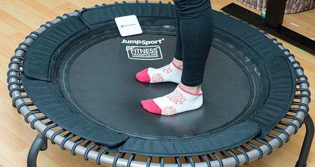 JumpSport Mini-Fitnesstrampolin Modell 570 im Test - zur Verbesserung der Fitness und Kondition, Balance und Koordination und auch zur gelenkschonenden Rehabilitation