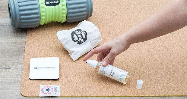 SAPURA Yogamatte Kork und Naturkautschuk im Test - lässt sich einfach pflegen und leicht reinigen