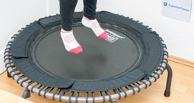 JumpSport Fitnesstrampolin Modell 570 – Die Premium-Komfort-Variante Minitrampoline für Fitness im Test
