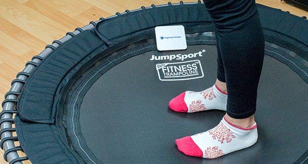 JumpSport Mini-Fitnesstrampolin Modell 570 im Test - maximales Benutzergewicht: 120 kg (Variante PRO bis 150 kg)