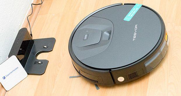 Tesvor T8 Staubsauger Roboter im Test - wenn der Staubsauger Roboter voll aufgeladen ist, kehrt er in ihre ursprüngliche Position zurück und fährt mit der Reinigung gemäß dem ursprünglichen Reinigungsplan fort