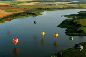 mit Groupon Gutschein auf Ballonfahrt
