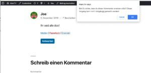 Interview mit Marc Tönsing, dem Entwickler des Frontend Comment Moderation Plugins