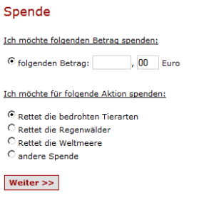 Spendenaktionen in WordPress anlegen