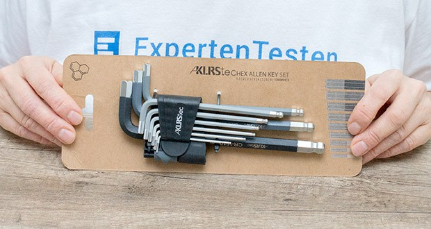 KLRStec Innensechskant Imbusschlüssel Set 9-teilig im Test - wird aus gehärtetem Chrom-Vanadium-Stahl gefertigt