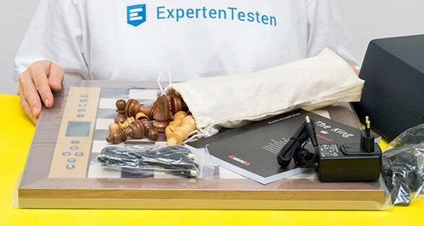 Millennium Schachcomputer The King Performance M830 im Test - Premium Figurensatz aus Echtholz, handgearbeitet, mit Gewichten und Figurensäckchen enthalten