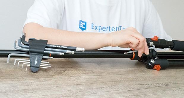 KLRStec Innensechskant Imbusschlüssel Set 9-teilig im Test - für optimalen Korrosions-Schutz und maximale Griffigkeit sogar mit öligen Händen
