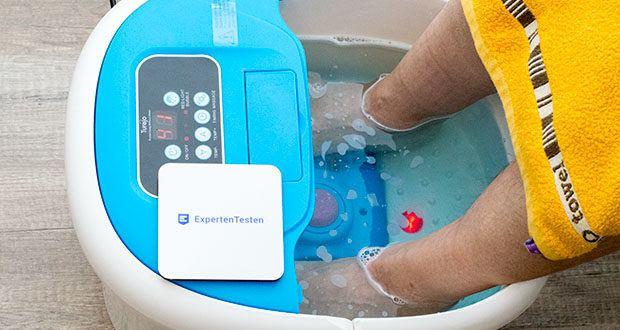 Turejo blue foot spa Fußbad im Test - ein Fußbad mit warmem Wasser erhöht die Hauttemperatur und zeigt an, dass etwas Wärme gut in den Körper eingedrungen ist