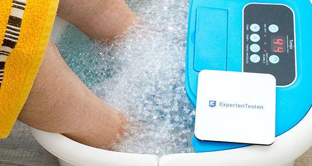 Turejo blue foot spa Fußbad im Test - Sie können ein paar Tropfen ätherisches Öl oder etwas Badesalz hinzufügen, um eine therapeutische Spa-Massage für die Füße zu genießen