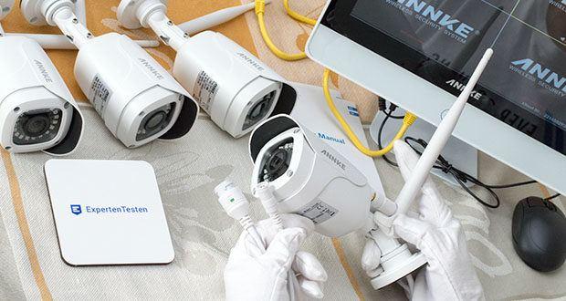 ANNKE Sicherheitssystem mit LCD-Monitor im Test - Anzahl der Infrarot-LEDs: 18 mit IR Cut Filter