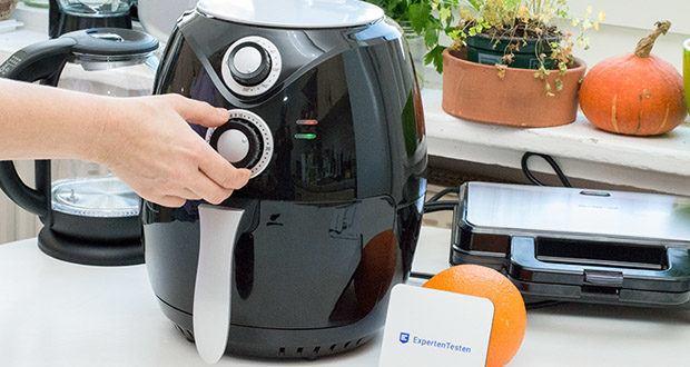 Emerio Heißluftfritteuse im Test - Bedienung durch Thermostat & Timer einfach und intuitiv