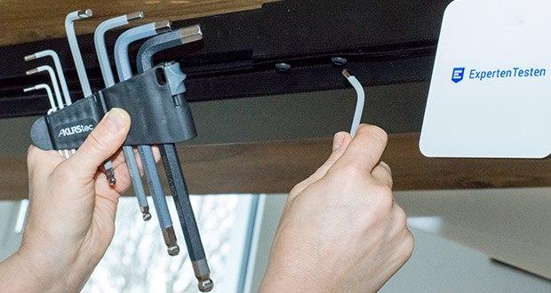KLRStec Innensechskant Imbusschlüssel Set 9-teilig im Test - jeder Schlüssel ist farbkodiert und mit der individuellen Größe markiert für eine einfachere Identifizierung