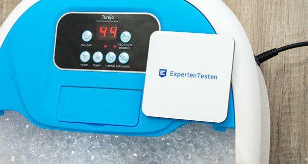 Turejo blue foot spa Fußbad im Test - ein Fußbad mit warmem Wasser erhöht die Hauttemperatur und zeigt an, dass etwas Wärme gut in den Körper eingedrungen isthilft Stress, Müdigkeit und Anspannung sowohl physisch als auch psychisch abzubauen, fördert einen besseren Schlaf und verringert das Risiko von Schlaflosigkeit
