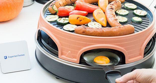 Emerio Pizzaofen PIZZARETTE 3 in 1 Pizza-Raclette-Grill im Test - kombiniert gleichzeitig Pizzarette, Schweizer Raclette und Grill