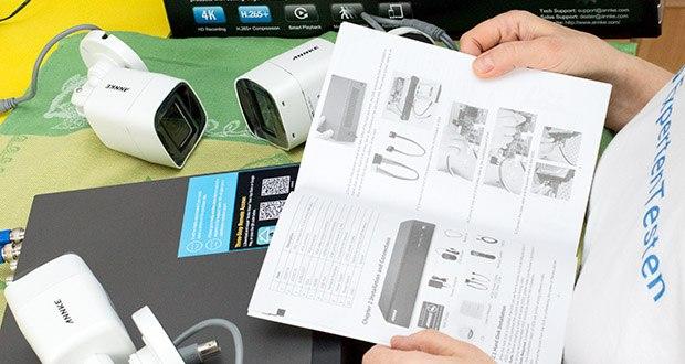 ANNKE Überwachungskamera Set mit DVR Rekorder im Test - Fernzugriff und durch Bewegungen ausgelöste Warnungen