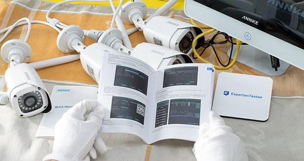 ANNKE Sicherheitssystem mit LCD-Monitor im Test - alle Bewegungen, die durch die Funktion von Bewegungserkennung entdeckt und aufgenommen werden, werden rechtzeitig mit Email nach Ihnen gesendet, so dass Sie genug Zeit für Vorsichtsmaßnahme haben