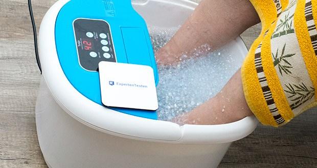 Turejo blue foot spa Fußbad im Test - Blasen können Hitze zerstreuen, Plantarfasziitis lindern und überarbeitete Füße entspannen
