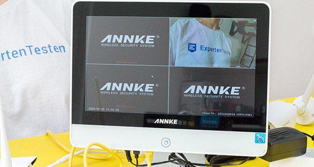 ANNKE Sicherheitssystem mit LCD-Monitor im Test - Bewegungserkennung und Email-Alarm mit Snapshots