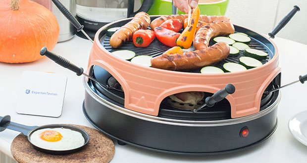 Emerio Pizzaofen PIZZARETTE 3 in 1 Pizza-Raclette-Grill im Test - Durchmesser Grillplatte: ca. 36 cm; mit Kontrollleuchte