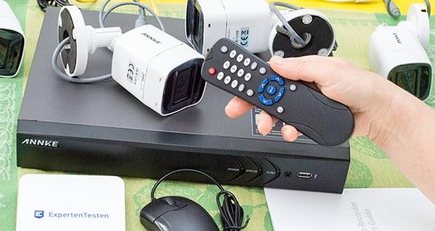 ANNKE Überwachungskamera Set mit DVR Rekorder im Test - dank der fortschrittlichen H.265 Videokomprimierung können Sie den <a href=